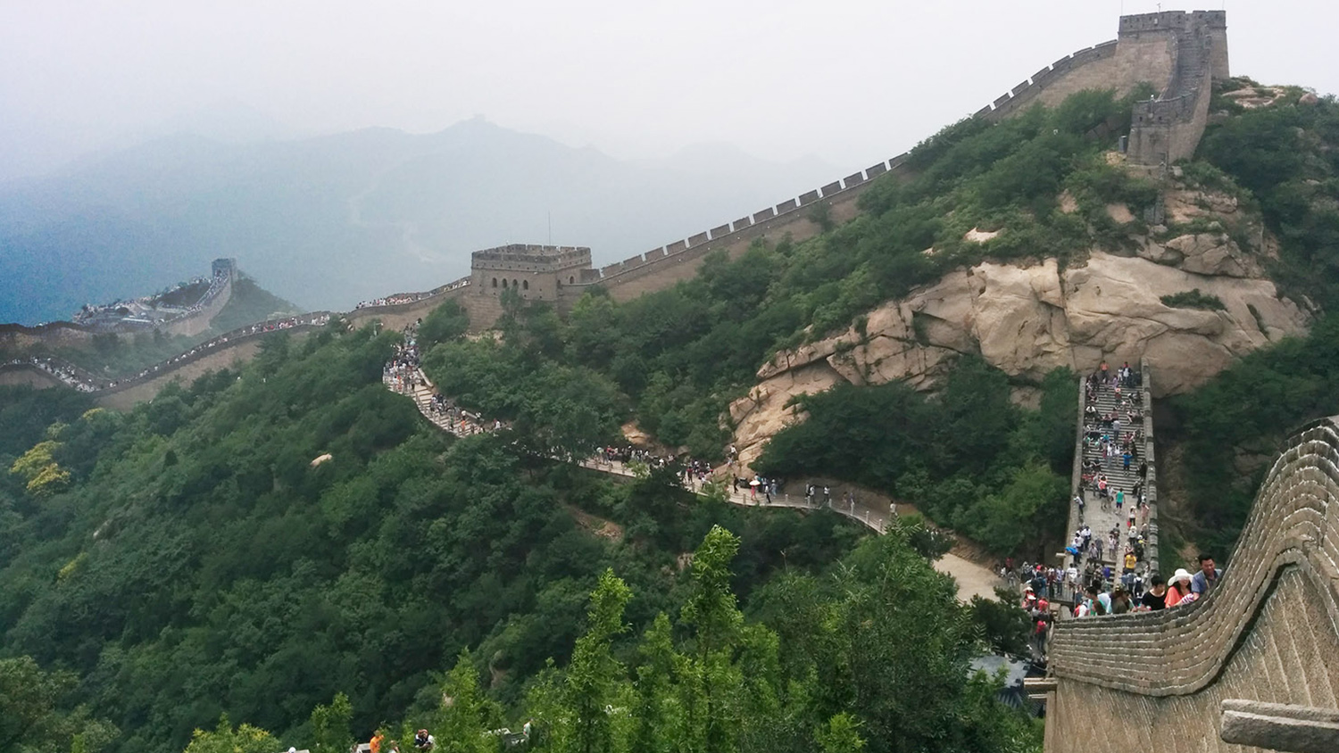 Hiking great wall of china badaling