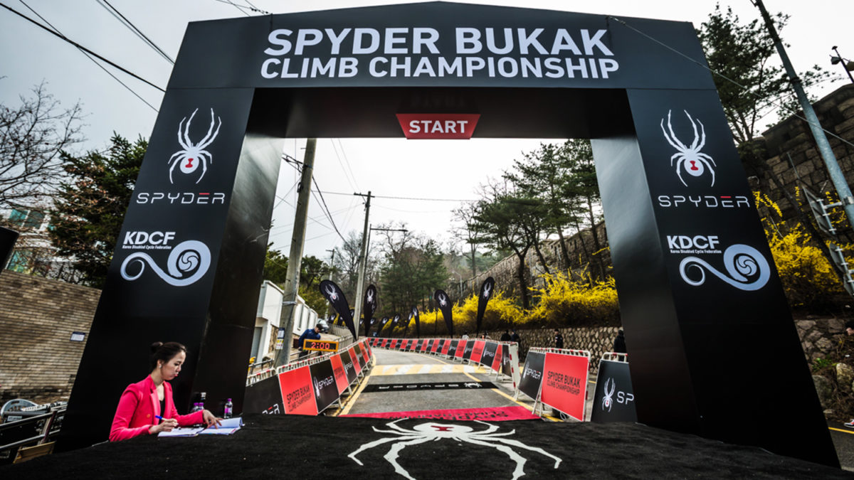 spyder bukak climb start korea